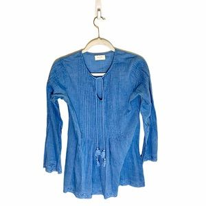 Altar'd State Chambray Jean Fit and Flare Tunic